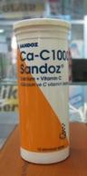 AC - SANDOZ Ca - C1000 CALCIUM + VITAMINC EMPTY MEDICINE PLASTICBOTTLE JANUARY 1994 - JANUARY 1996 - Attrezzature Mediche E Dentistiche