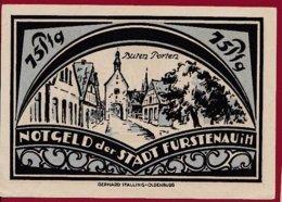 Allemagne 1 Notgeld 75 Pfenning  Stadt Fürstenau  (RARE -SERIE COMPLETE)  Dans L 'état Lot N °5035 - [ 3] 1918-1933 : Repubblica  Di Weimar