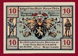 Allemagne 1 Notgeld 10 Pfenning  Stadt Plaue/Thür  (RARE -SERIE COMPLETE)  Dans L 'état Lot N °5037 - [ 3] 1918-1933 : République De Weimar