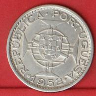 ANGOLA 20 ESCUDOS 1952 - * SILVER *    KM# 74 - (Nº32000) - Portugal