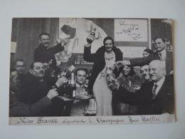 MARNE CARTE PHOTO HAUTVILLERS MISS FRANCE DEGUSTANT LE CHAMPAGNE HENRI MARTIN - Autres Communes