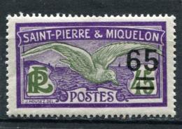 SAINT-PIERRE ET MIQUELON  N°  121 *  (Y&T)   (Charnière) - Ungebraucht