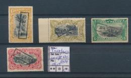 BELGIAN CONGO POSTAGE DUE 19069 ISSUE COB TX27/30 10C AND 15C NO GUM OTHERS HINGED - Portomarken: Ungebraucht