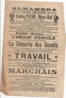 Vieux Papiers :  Publicités Pour L'ALHAMBRA Saint-Ouen   Réf 7474 - Publicités