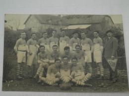 CARTE PHOTO EQUIPE DE RUGBY DEBUT 1900 - U.S.P. (PERPIGNAN ?) - Rugby
