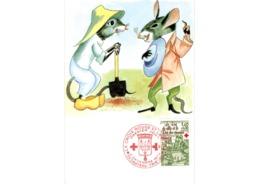 Carte / Croix Rouge   / Le Rat De Ville Et Le Rat Des Champs  / 2-12-78 - Maximumkarten