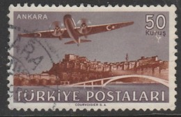 Turkey 1949 Airmail Stamps 50 K Red/violet SW 1269 O Used - 1921-... Republic