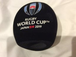 Mic Windshield Microphone For Broadcasting Rugby World Cup Japan 2019.  - Distribution To Officials - - Rugby
