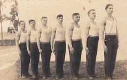 Group Of Semi Nude Muscular Athlete Men Boys Real Photo Postcard Gay Interest - Athlétisme