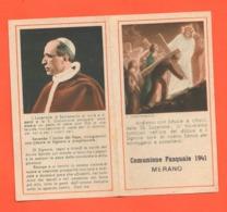 MERANO 1941 Santini Santino Pasquale Pasqua Carte Sainte Holy Card Heilige Karte Estampa Sagrada - Santini