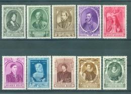 BELGIE - OBP Nr 573/582 - Historische Figuren - MNH** - Belgium