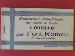 Carnet De Cartes Postales établissement D'héliothérapie Des Pupilles De L'école à Odeillo Par Font Romeu (goudin) - Autres Communes