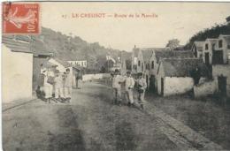 SAONE ET LOIRE : Le Creusot, Route De Marolle, Belle Animation... - Le Creusot