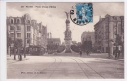 51 REIMS Place Drouet D'Erlon , Passage Du Tramway ,circulée En 1928 - Reims