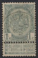 """Fine Barbe - N°53 Obl Relais """"Haesdonck"""" - 1893-1900 Schmaler Bart"""