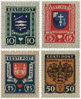 Ref. 579570 * HINGED *  - ESTONIA . 1936. ESCUDOS DE CIUDADES. PRO CARITAS - Estonia