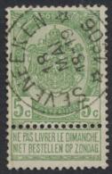 "Fine Barbe - N°56 Obl Relais ""Seveneeken"" (1906). Superbe Centrage / COBA : 15 - 1893-1900 Barbas Cortas"