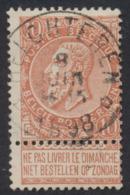 "Fine Barbe - N°57 Obl Relais ""Helchteren"". TB / COBA : 15 - 1893-1900 Barbas Cortas"