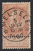 "Fine Barbe - N°57 Obl Relais ""Melsele"" (concours) / COBA : 30 - 1893-1900 Schmaler Bart"