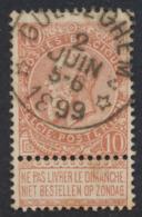 """Fine Barbe - N°57 Obl Relais """"Gulleghem"""" / COBA : 15 - 1893-1900 Barbas Cortas"""