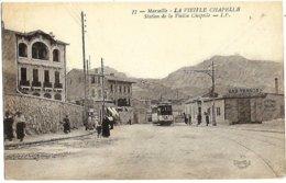 A3 BDR 13 MARSEILLE Station Tramway De La Vieille Chapelle 1918 TBE - Quartiers Sud, Mazargues, Bonneveine, Pointe Rouge, Calanques