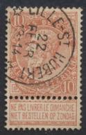 """Fine Barbe - N°57 Obl Relais """"Lille-St-Hubert"""" / COBA : 15 - 1893-1900 Schmaler Bart"""