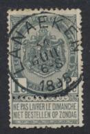 """Fine Barbe - N°53 Obl Simple Cercle """"Lanaeken"""" - 1893-1900 Barbas Cortas"""
