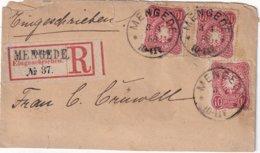 ALLEMAGNE 1888 LETTRE RECOMMANDEE DE MENGEDE - Covers & Documents