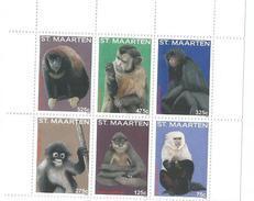 2015 St. Maarten  Monkeys  Complete Set Of 6 MNH @ 75% Of Face  **BARGAIN!!!!*** - Scimmie