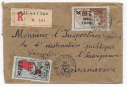 MADAGASCAR - 1943 - FRANCE LIBRE - ENVELOPPE RECOMMANDEE De FIANARANTSOA - Lettres & Documents