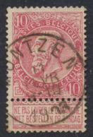 "Fine Barbe - N°58 Obl Simple Cercle ""Montzen"" - 1893-1900 Barbas Cortas"