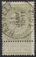 "Fine Barbe - N°59 Obl Simple Cercle ""Hasselt"" - 1893-1900 Schmaler Bart"