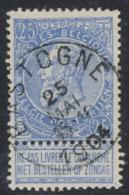 """Fine Barbe - N°60 Obl Simple Cercle """"Bastogne"""" - 1893-1900 Schmaler Bart"""