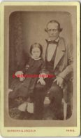 Vers1880-CDV Homme étrange Avec Une Petite Fille--photographie De L'Union Barberis Et Zoccola-Paris - Old (before 1900)
