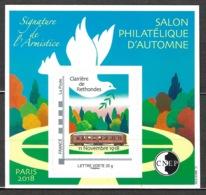 France - Bloc CNEP 2018 - N° 79 ** - Salon Philatélique D'Automne  - Signature De L'armistice - - CNEP