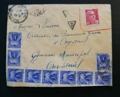 Enveloppe D'Argenteuil Avec Taxe - Marcofilia (sobres)