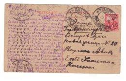 Russia To Estonia,Odessa,Carte Reponse, 1922 - Lettres & Documents