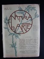 Natura Ed Arte Rivista Scienze Lettere Arti 1903 Ed Vallardi Caserta Cascella - Libri, Riviste, Fumetti