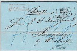 "1862, "" POSEN - BAHNHOF "" - Recomandiert , A2476 - Prusse"