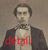 CDV Second Empire-original-homme Avec Pantalon Et Veste Pied De Poule-noeud De Cravate-mode-photo Duboscq à Caen - Anciennes (Av. 1900)