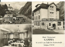WASSEN  _ HÔTEL-RESTAURANT GAMMA  (  SUISSE )   CANTON URI _MULTI_VUES - Restaurants