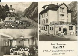 WASSEN  _ HÔTEL-RESTAURANT GAMMA  (  SUISSE )   CANTON URI _MULTI_VUES - Restaurantes