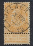 """Fine Barbe - N°65 Obl Simple Cercle """"Lanklaer"""". Superbe - 1893-1900 Schmaler Bart"""