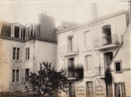 Photo Originale Aout 1913 Pension De Famille Sainte Anne à Saint Malo - Lugares