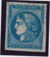 20 C Bleu Type II N° 45 Avec Pd B. - 1870 Bordeaux Printing