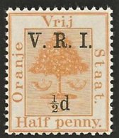 Orange Free State 1900. ½d Yellow LEVEL STOPS. SACC 49**, SG 101**. - África Del Sur (...-1961)