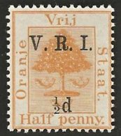 Orange Free State 1900. ½d Yellow LEVEL STOPS. SACC 49*, SG 101*. - África Del Sur (...-1961)