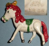 Rare Ancienne Figurine Vintage En Plastique JIM ORTF 1966, Poney Série TV, Cheval - Beeldjes