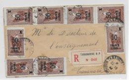MADAGASCAR - 1943 - FRANCE LIBRE - LETTRE RECOMMANDEE LOCALE De TANANARIVE - Lettres & Documents