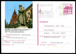 74044) BRD - P 138 - R3/44 - 7550 OO Gestempelt - 6500 Mainz, Gutenberg-Denkmal - Illustrated Postcards - Used